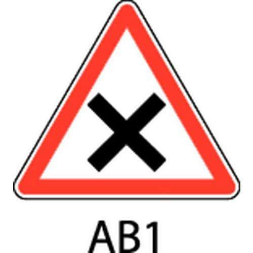 panneau de signalisation de danger ab1 c dez le passage dr. Black Bedroom Furniture Sets. Home Design Ideas