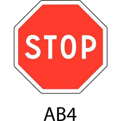 Panneau de signalisation de danger ab4 stop - Panneau de signalisation original ...
