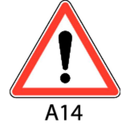 panneau de signalisation de danger a14 autres dangers. Black Bedroom Furniture Sets. Home Design Ideas