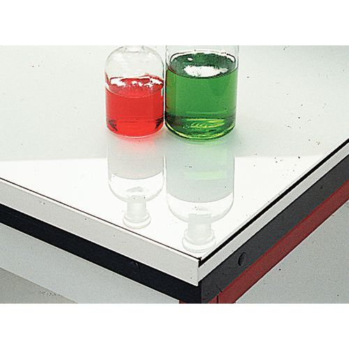 Meuble d'angle modulaire pour laboratoire - Verre émaillé - Sans dosseret