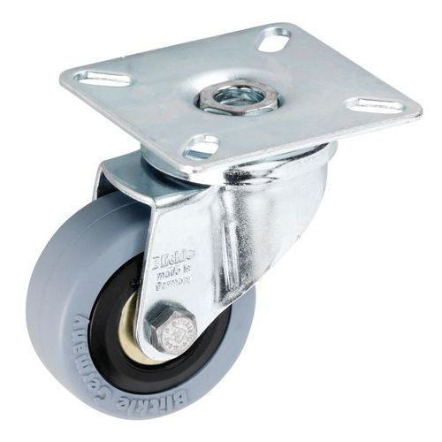 Roulette à platine - Force 40 à 70 kg - Pivotante