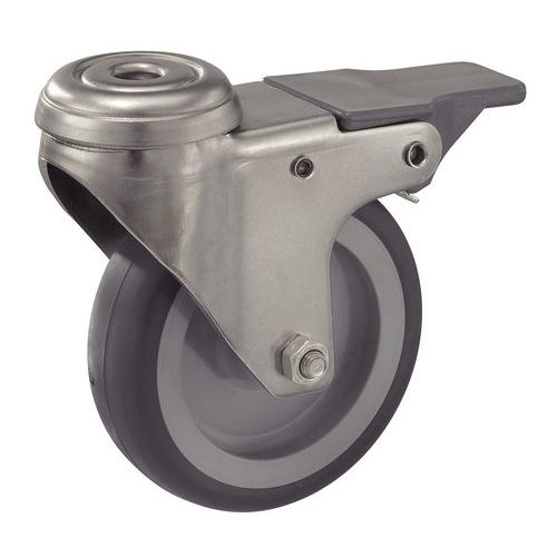 roulette avec frein en acier inoxydable force 50 75 kg man. Black Bedroom Furniture Sets. Home Design Ideas