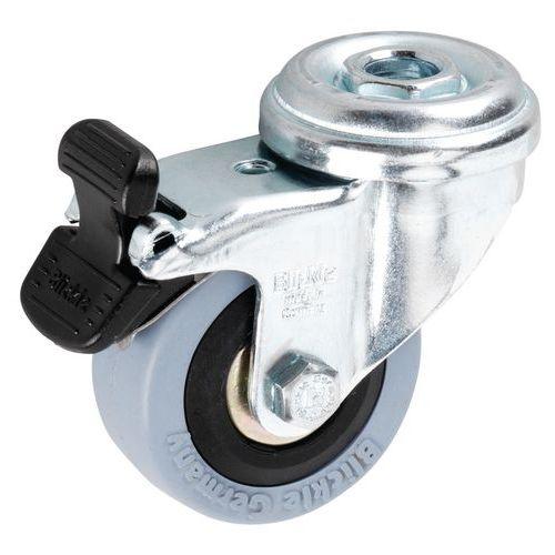 Roulette à œil - Force 40 à 70 kg - Pivotante à frein