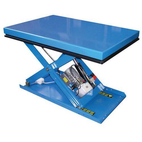 Table élévatrice ergonomique fixe EAX - Capacité 500 à 2000 kg