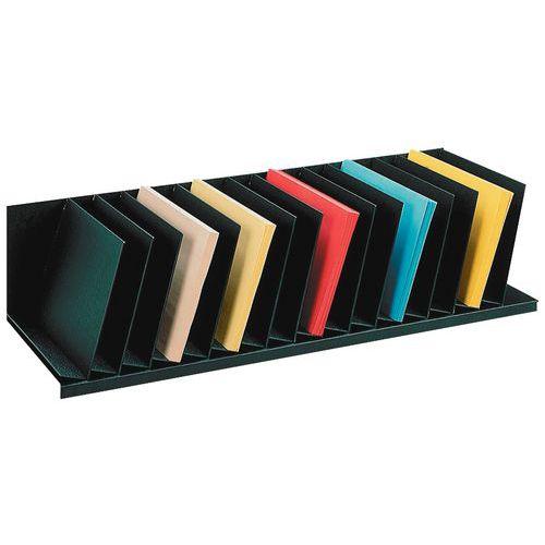 Trieur vertical à séparateurs inclinés pour armoires - Noir