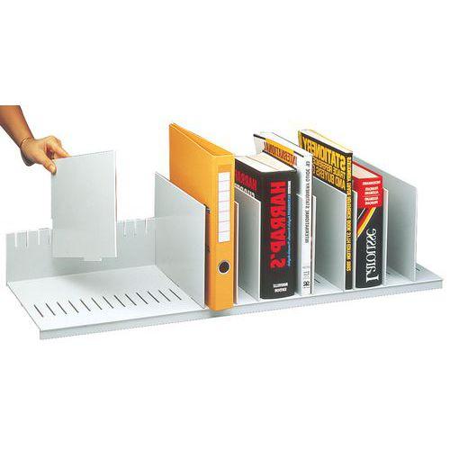 Trieur vertical à séparateurs amovibles pour armoires - Gris