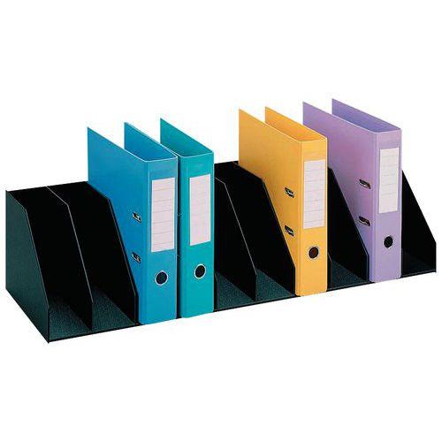 Trieur vertical à séparateurs fixes pour armoires - Noir