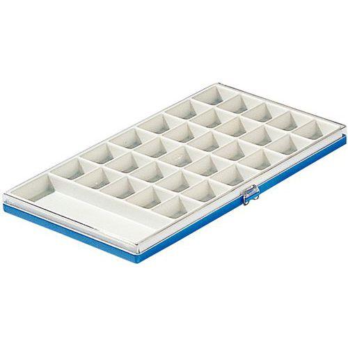 Boîte à compartiments pour matériel électronique