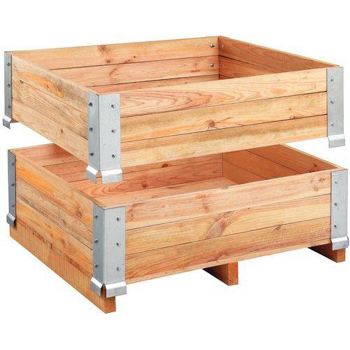 Rehausse palette bois Fixe 1200 x 800 mm Manutan fr # Rehausse Palette Bois