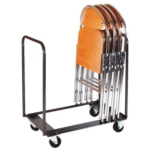 chariot de transport pour chaise pliante. Black Bedroom Furniture Sets. Home Design Ideas