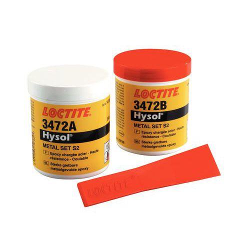 Résine époxy Loctite - Acier fluide Hysol 3472