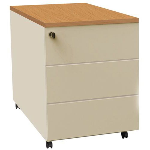 Caisson mobile à tiroirs Confort 2 - Merisier