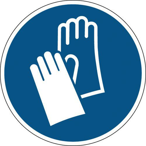 Panneau obligation rond - Gants de protection obligatoires - Rigide