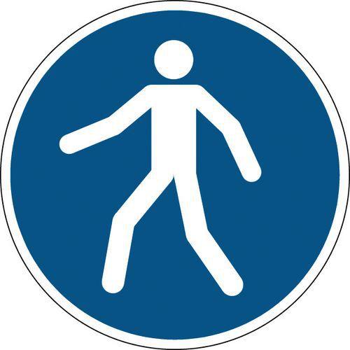 Panneau obligation rond - Utiliser le passage - Rigide