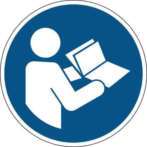 Panneau obligation rond - Consulter le manuel d'instructions - Rigide