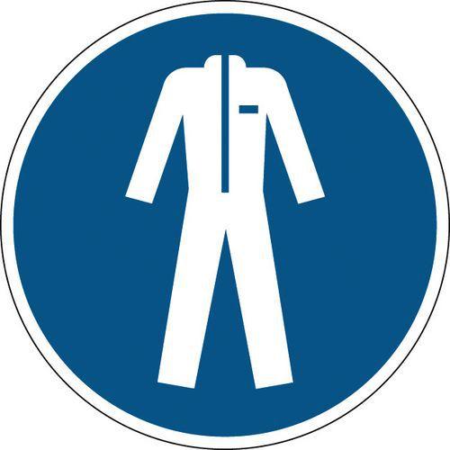 Panneau obligation rond - Vêtements de protection obligatoires - Rigide