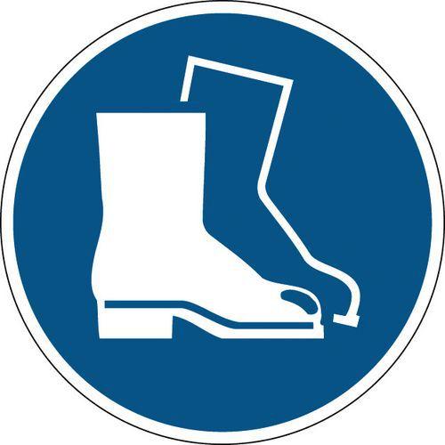 Panneau obligation rond - Chaussures de sécurité obligatoires - Rigide