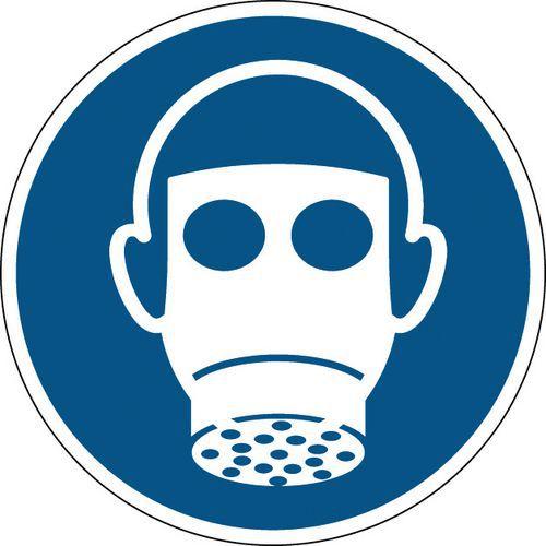 Panneau obligation rond - Protection des voies respiratoires obligatoire - Rigide