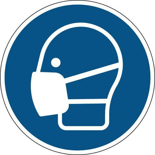 Panneau obligation rond - Masque obligatoire - Rigide