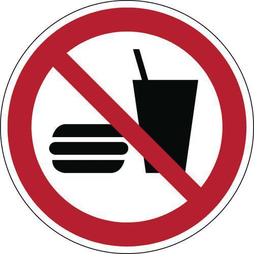 Panneau interdiction - Ne pas manger ou boire - Rigide