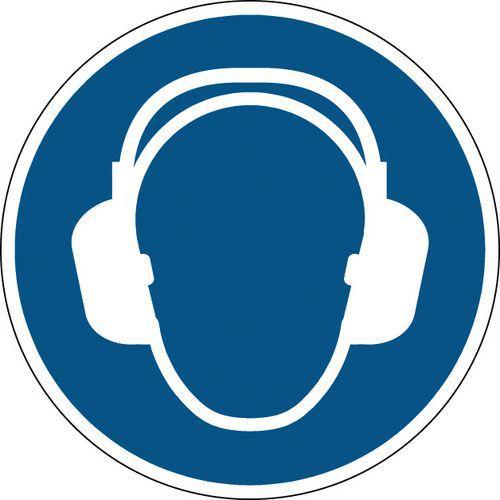 Panneau obligation rond - Protection auditive obligatoire - Rigide