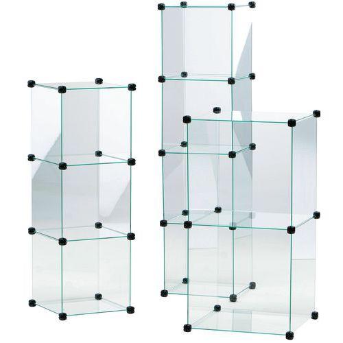 Vitrine en cubes - 6 compartiments