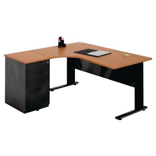 bureau compact avec caisson yacht 2. Black Bedroom Furniture Sets. Home Design Ideas