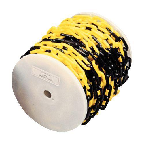 Chaîne plastique en bobine - Noir/jaune