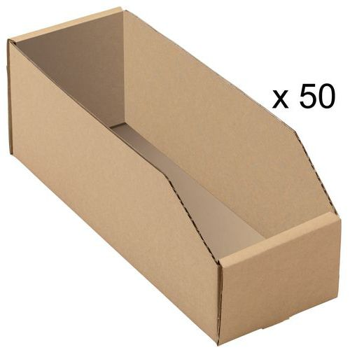bacs bec carton kraft brun longueur 300 mm. Black Bedroom Furniture Sets. Home Design Ideas