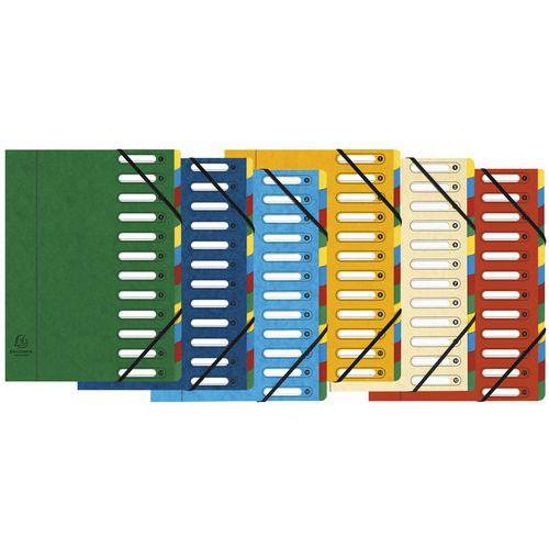 Trieur à fenêtres 12 compartiments- Coloris assortis- Lot de 6