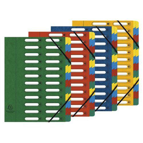 Trieur à fenêtres 24 compartiments - Coloris assortis - Lot de 4