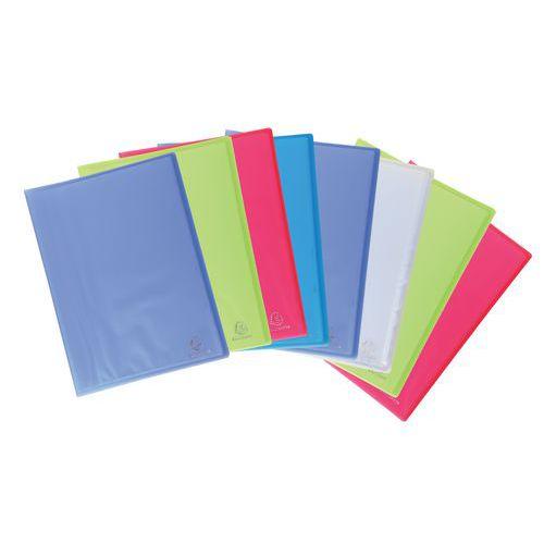 Protège-documents polypropylène translucide Chromaline  A4 - Coloris assortis - Lot de 8