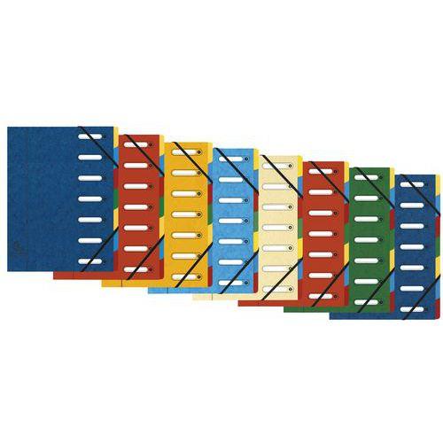 Trieur à fenêtres 7 compartiments - Coloris assortis - Lot de 8