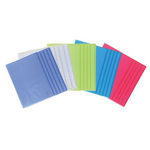 Protège-documents polypropylène translucide Chromaline 40 vues A4 - Coloris assortis - Lot de 20