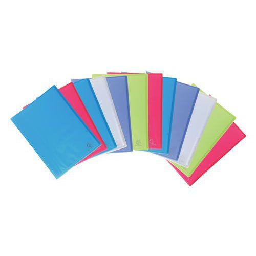 Protège-documents polypropylène translucide Chromaline A4 - Coloris assortis - Lot de 12