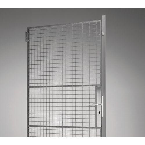 Porte battante pour cloison grillag e ux 450 avec plaque for Meuble avec porte grillagee