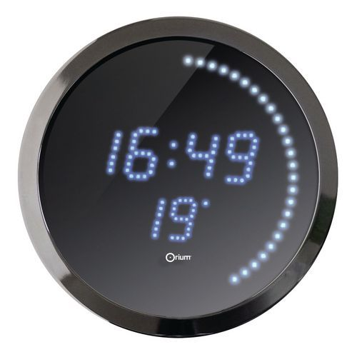 Horloge à LED bleue