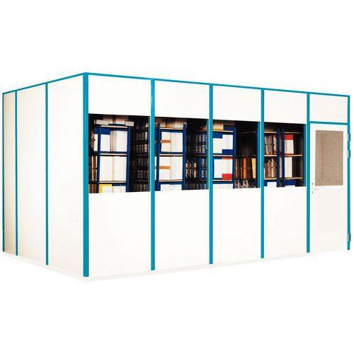 cloison simple paroi m lamin panneau semi vitr p 4 mm hauteur 2 51 m. Black Bedroom Furniture Sets. Home Design Ideas