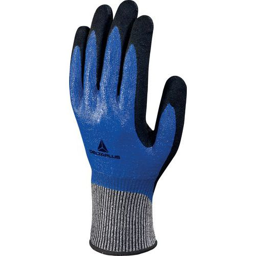 Gants tricot DELTAnocut®+ double enduction nitrile VECUT54BL