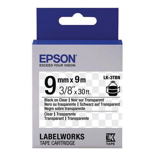 Cassette ruban Epson LK-3TBN & 4TBN fond transparent