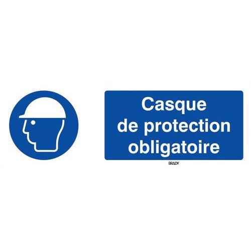 Panneau obligation - Casque de sécurité obligatoire - Rigide
