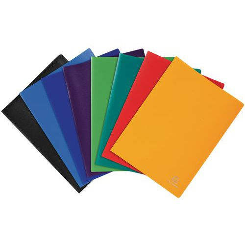 Protège-documents polypropylène opaque souple 200 vues - Coloris assortis - Lot de 8