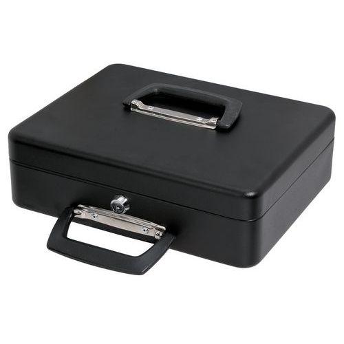 Caisse à monnaie avec monnayeur coulissant - 300x230x90 mm