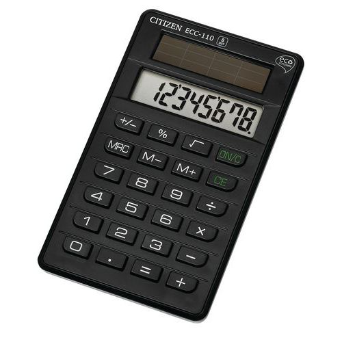 Calculatrice de poche - Citizen Eco Complete Serie ECC