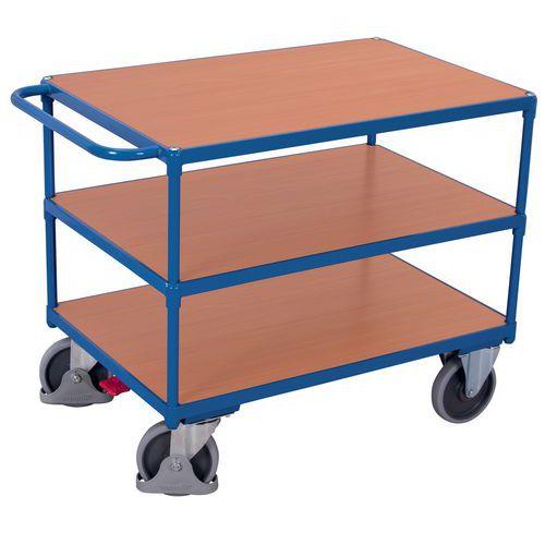 符合人体工学的小推车3个木制托盘-单杠-容量500公斤