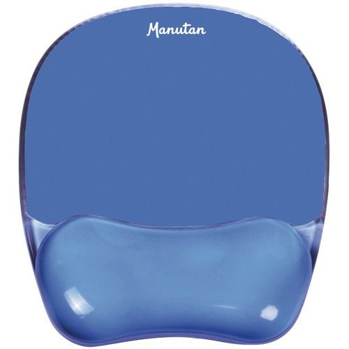 Tapis souris gel ergonomique - avec repose-poignet - Manutan