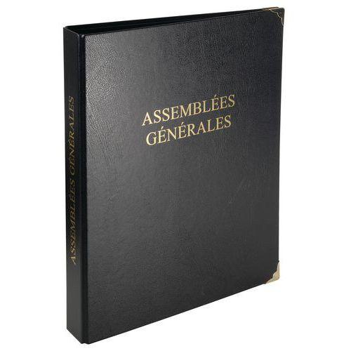 Registre 32 x 26 cm 4 anneaux avec recharge de 100 feuillets - Assemblées générales