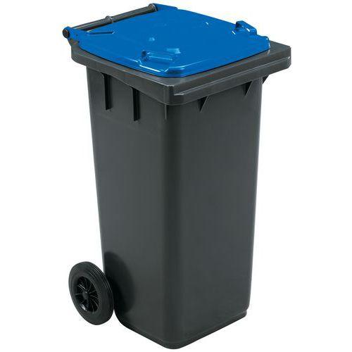 Conteneur mobile tri des déchets - 120 L - Manutan