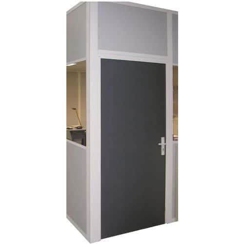 porte battante pour cloisons d 39 atelier t le d 39 acier ou m lamin panneau plein hauteur 2 75 m. Black Bedroom Furniture Sets. Home Design Ideas