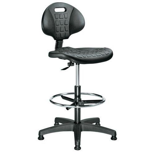 Siège d'atelier ergonomique - Haut - Manutan